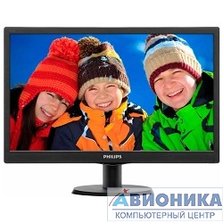 "Монитор LCD PHILIPS 18.5"" 193V5LSB2/10(62) Black {TN (LED), 1366x768, 5ms, 250cd/m2, 1 000:1, (700:1), 90/65, D-Sub, VGA}"