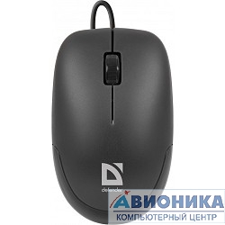 Мышь DEFENDER Datum MM-010 Black (Черн), USB 2кн+кл,1000 dpi