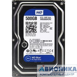"Жесткий диск 3.5"" Western Digital 500Gb Caviar Blue (WD5000AZRZ) {Serial ATA III, 64Mb buffer}"
