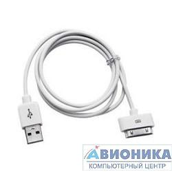 Кабель USB Gembird AM/Apple для iPad/iPhone/iPod, 1.8м белый, блистер [CC-USB-AP1MW]