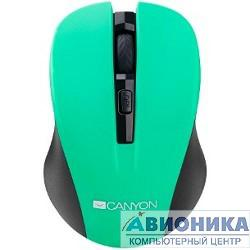 Мышь CANYON CNE-CMSW1GR Green USB {wireless mouse with 3 buttons, DPI changeable 800/1000/1200}