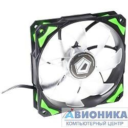 Вентилятор 120*120*25  Case Fan ID-Cooling PL-12025-G Green LED/PWM